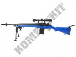 MP008 M14 Sniper Rifle Electric AEG Airsoft Gun Black and Blue